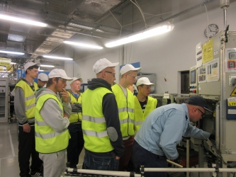 Students' company tour in DSSE